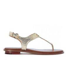 Kožené sandálky Michael Kors Plate Thong zlaté