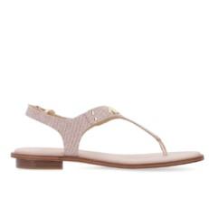 Kožené sandálky Michael Kors Plate Thong růžové