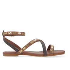 Kožené sandálky Michael Kors Tasha brown