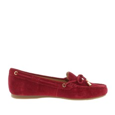Boty Michael Kors Sutton Suede Moccasin cherry