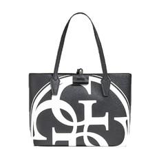 Kabelka Guess Bobbi Reversible Logo Tote černá/černá