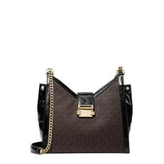 Kabelka Michael Kors Whitney Small Leather Shoulder brown