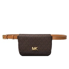 Kabelka ledvinka Michael Kors Mott Logo Belt brown/acorn