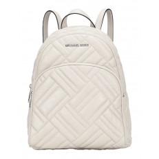 Kabelka Michael Kors Abbey Medium Quilted Backpack cement