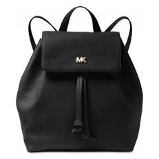 Kabelka batoh Michael Kors Junie Medium Pebbled Leather Backpack černá