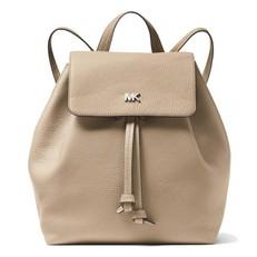 Kabelka batoh Michael Kors Junie Medium Pebbled Leather Backpack truffle
