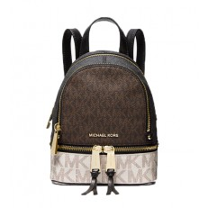 Kabelka Michael Kors Rhea Mini Logo Backpack brown