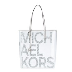 Kabelka Michael Kors The Michael Large Graphic Logo Print Clear Tote bílá