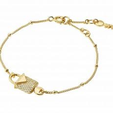 Náramek Michael Kors Pavé Lock Studs zlatý