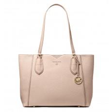 Kabelka Michael Kors Mae Medium Pebbled Leather Tote soft pink