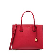 Kabelka Michael Kors Mercer Large Saffiano Tote bright red