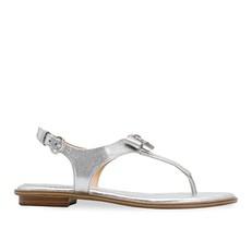 Kožené sandálky Michael Kors Alice Metallic Sandal stříbrná