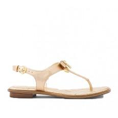Kožené sandálky Michael Kors Alice Metallic Sandal zlatá