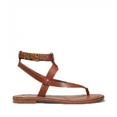 Kožené sandálky Michael Kors Pearson Sandal hnědá