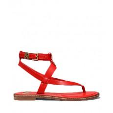 Kožené sandálky Michael Kors Pearson Sandal červená