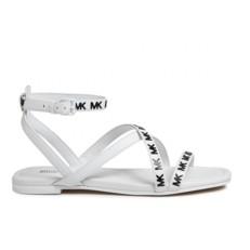 Kožené sandálky Michael Kors Tasha bílé