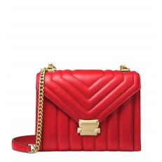 Kabelka Michael Kors Whitney Large Quilted Leather Convertible Shoulder bright red