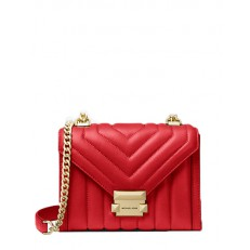 Kabelka Michael Kors Whitney Small Quilted Leather Convertible Shoulder bright red