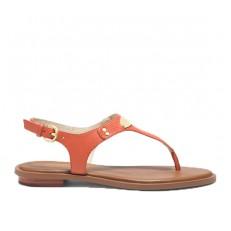 Kožené sandálky Michael Kors Plate Thong grapefruitové