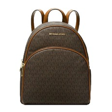 Kabelka batoh Michael Kors Abbey Medium Signature Backpack brown