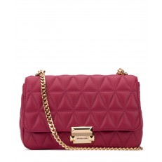 Kabelka Michael Kors Sloan Large Quilted Leather Shoulder berry