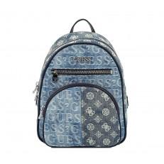 Kabelka batoh Guess New Vibe Large Backpack denim