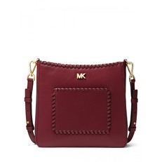 Kabelka Michael Kors Gloria Whipstitched Leather Messenger oxblood