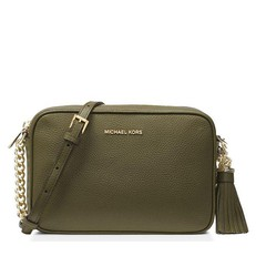 Kabelka Michael Kors Ginny Leather Crossbody olive