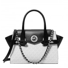 Kabelka Michael Kors Carmen Small Logo and Leather Belted Satchel