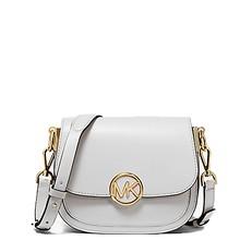 Kabelka Michael Kors Lillie Small Leather Saddle optic white