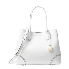 Kabelka Michael Kors Mercer Gallery Medium Leather Tote optic white