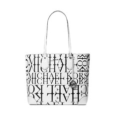 Kabelka Michael Kors Eva Large Newsprint Logo Leather Tote