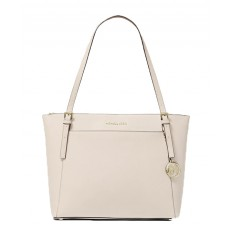 Kabelka Michael Kors Voyager Large Saffiano Leather Top-Zip Tote light sand