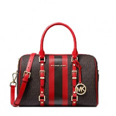 Kabelka Michael Kors Bedford Travel Medium Logo Stripe Satchel