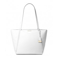 Kabelka Michael Kors Whitney Large Leather Tote optic white