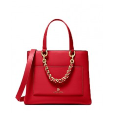 Kabelka Michael Kors Cece Small Leather Chain Messenger bright red