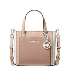 Kabelka Michael Kors Gemma Small Tri-Color Pebbled Leather Crossbody soft pink/fawn