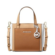 Kabelka Michael Kors Gemma Small Tri-Color Pebbled Leather Crossbody acorn/butternut