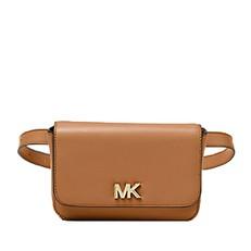 Kabelka ledvinka Michael Kors Mott Leather Belt acorn