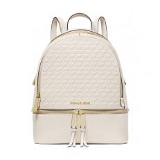 Kabelka Michael Kors Rhea Medium Debossed Backpack light sand