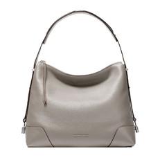 Kabelka Michael Kors Crosby Large Pebbled Leather Shoulder pearl grey
