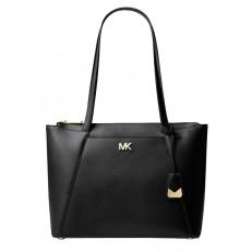 Kabelka Michael Kors Maddie Medium Crossgrain Leather Tote černá