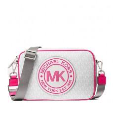 Kabelka Michael Kors Fulton Sport Logo Crossbody neon pink