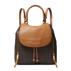 Kabelka batoh Michael Kors Viv Large Logo and Leather Backpack