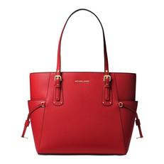 Kabelka Michael Kors Voyager Crossgrain Leather Tote bright red