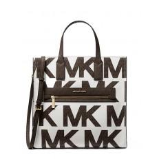 Kabelka Michael Kors Kenly Large Graphic Logo Tote optic white/brown