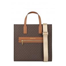 Kabelka Michael Kors Kenly Large Logo Tote brown/luggage