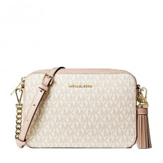 Kabelka Michael Kors Ginny Medium Logo Crossbody vanilla/soft pink