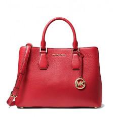 Kabelka Michael Kors Camille Large Leather Satchel bright red