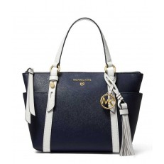 Kabelka Michael Kors Sullivan Small Two-Tone Top-Zip Tote navy